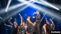 Ricky Martin durante su concierto en Las Vegas. También tuvo lleno total durante su presentación en la capital de EE.UU. como parte de su gira. [Foto: Cortesía, Chino Lemus].