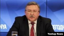 미하일 울리야노프 러시아 외무부 비확산·군비통제국장 (자료사진)