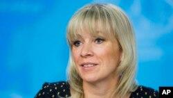 روسی وزارت خارجہ کی ترجمان ماریہ زخارووا۔ فائل فوٹو