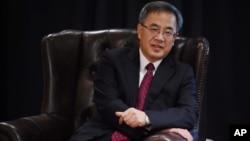 中共广东省委书记胡春华在澳大利亚的悉尼准备参加澳中(广东)经济贸易合作会议(2015年5月25日)