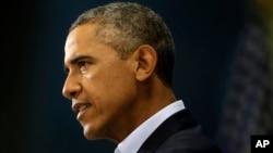 Tổng thống Obama phát biểu tại Edgartown, bang Massachusetts,về vụ nhà báo Mỹ James Foley bị nhóm Nhà nước Hồi giáo IS chặt đầu, 20/8/2014.