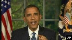 Pidato mingguan Presiden Obama membahas langkah-langkah yang dapat diambil guna membantu menciptakan lapangan kerja di AS (2/6).
