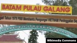 Khu trại tị nạn ở Galang, Batam, Indonesia. (Ảnh: Masgatotkaca)