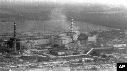 핵 사고 후의 체르노빌 언자력 발전소