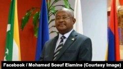 Le ministre comorien des Affaires étrangères, Mohamed Soeuf Elamine, Moroni, Comores, 30 mars 2018. (Facebook/Mohamed Soeuf Elamine)