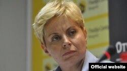 Vukosava Crnjanski, direktorka CRTA-e, na konferenciji za štampu u Medijacentru Beogradu, u Beogradu, 18. jula 2019. (Foto: Medijacentar Beograd)