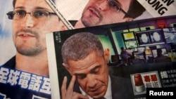 Báo chí đưa tin về vụ bỏ trốn sang Hồng Kông của ông Edward Snowden.