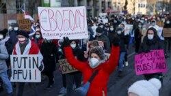 俄羅斯1月31日示威場面。