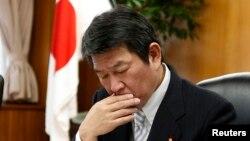 日本經濟產業大臣茂木敏充擔心美中貿易戰衝擊日本公司。