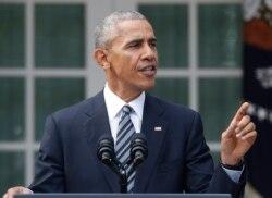 ေရြးေကာက္ခံသမၼတသစ္ Donald Trump ကုိ Obama ခ်ီးက်ဴး