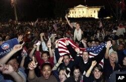 Une foule monstre devant la Maison-Blanche dans lui et mardi