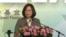 台湾总统蔡英文2017年8月8日就台湾的地区角色发表讲话(美国之音黎堡摄)