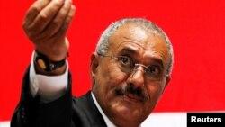 알리 압둘라 살레 전 예멘 대통령.