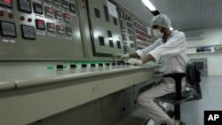 Iranian technician at Uranium Conversion Facility outside Isfahan, 255 miles (410 kilometers) south of Tehran, Feb. 2007 (file photo).