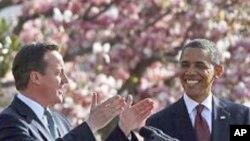 14일 워싱턴에서 정상회담을 가진 데이비드 캐머런 영국 총리(왼쪽)와 바락 오바마 미 대통령.