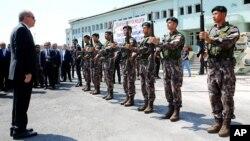 Президент Ердоган відвідує штаб-квартиру поліції спеціального призначення в Анкарі