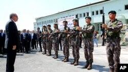 Turski predsednik Erdogan sa specijalnim policijskim snagama u Ankari 29. jula 2016.