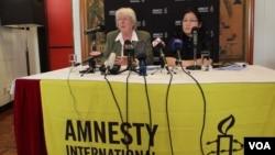 國際人權組織國際特赦在香港發表人權報告( 美國之音 譚嘉琪拍攝)