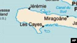 Kat Jewografik peyi D Ayiti ki montre yon pati nan zòn sid la, Okay.