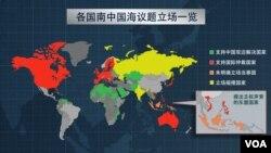 各国南中国海议题立场一览
