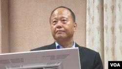 台灣國防部常務次長柏鴻輝中將。(美國之音張永泰拍攝)