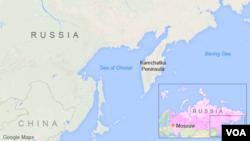 러시아 오호츠크해 지도.