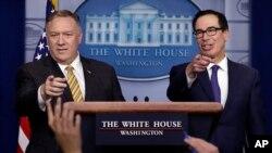 ABD Dışişleri Bakanı Mike Pompeo ve Maliye Bakanı Steve Mnuchin