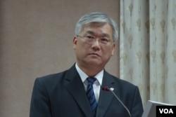 台湾国防部副部长夏立言(美国之音张佩芝拍摄)