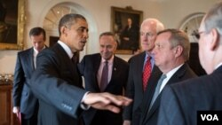 1月13日,奧巴馬與國會議員會面(圖片來源:白宮)