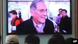 Truyền hình Hàn Quốc đưa tin Triều Tiên thả công dân Mỹ Merrill Newman, 7/12/2013