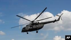 Foto de um helicóptero militar russo Mi-8