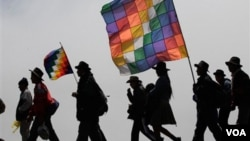 La marcha indígena partió de la ciudad amazónica de Trinidad el pasado 15 de agosto en oposición a la construcción de una carretera.
