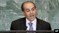 유엔총회에서는 연설하는 지브릴 총리