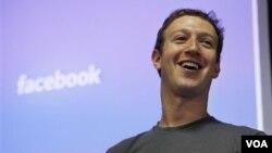 CEO Facebook, Mark Zuckerberg di kantor pusat facebook di Palo Alto, California (Foto: dok).