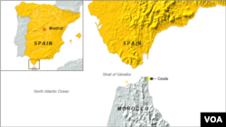 ເຂດ Ceuta ຂອງສະເປນ ທີ່ຕັ້ງຢູ່ໃນບໍລິເວນແຄມຝັ່ງທະເລ ທາງກໍ້າຕາເວັນຕົກສຽງເໜືອ ຂອງທະວີບອາຟຣິກາ.