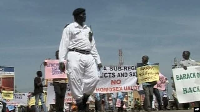 Anti-gay demonstration in Uganda