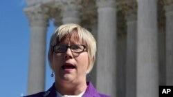 Amy Hagstrom Miller, directora y fundadora de Whole Woman's Health, y demandante en el caso sobre una ley anti-aborto de Texas que considera la Corte Suprema de EE.UU.