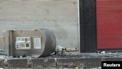 敘利亞霍姆斯市在7月1日戰鬥後留下的破壞情況