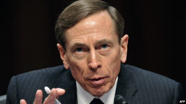 Resigned CIA Director David Petraeus (Jan 2012 photo)