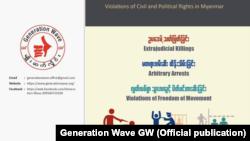 """တိုင္းရင္းသားေဒသ ဥပေဒမဲ႔လုပ္ရပ္မ်ား """"မ်ိဳးဆက္လိႈင္း"""" အဖဲြ႔ေထာက္ျပ (Generation Wave)"""