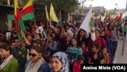 Li Efrînê xwepêşandanek