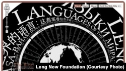 The Long Now's Rosetta Project is a global collaboration of language specialists and native speakers working to build a publicly accessible digital library of human languages.