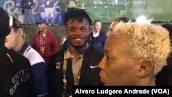 Popole Misenga e Yolande Bukasa Mabika, atletas da RDC refugiados no Brasil