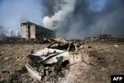 天津滨海新区爆炸现场(2015年8月13日)