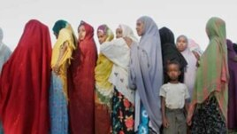Women wait in line to vote during Somaliland parliamentary elections in 2005 (in Hargeisa). (photo courtesy of Ryan Anson/Interpeace).