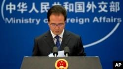 Phát ngôn viên Bộ Ngoại giao Trung Quốc Hồng Lỗi phát biểu trong cuộc họp báo tại Bắc Kinh, ngày 20/5/2014.