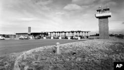 洛斯阿拉莫斯國家實驗室的主要入口。(1955年2月25日)
