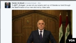 Abadi Responds to Erdogan