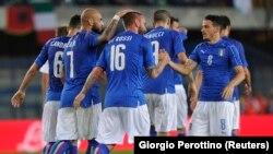 Les Italiens face au 11 finlandais dans une rencontre amicale (6 juin 2016)