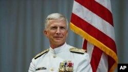 美國南方司令部司令,海軍上將克雷格‧法勒出席交接儀式 (資料圖片)